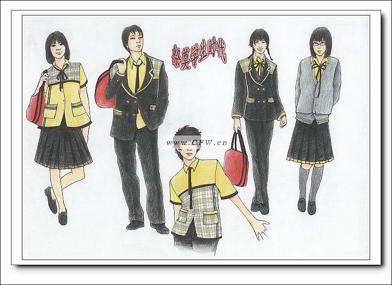 我的学生时代 班服设计校服设计图