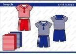 男小童T恤套装(校服设计图)