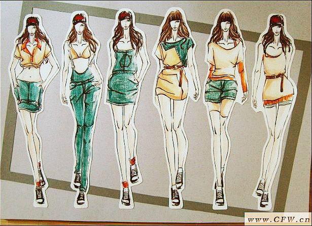 运动风系列女装效果图