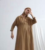 风琴褶连衣裙