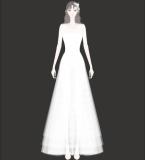 无袖简洁白色长裙