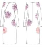 风之荷韵改良式旗袍
