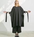 大廓形飘带罩袍连衣裙