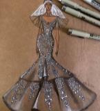 婚纱礼服手绘