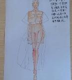 服装设计图丨手绘稿