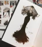黑色婚纱礼服