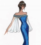 蓝色妖姬-礼服