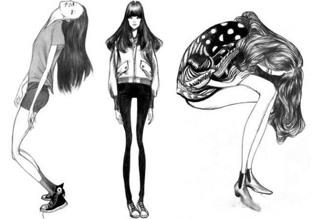 laura laine的鬼魅服装设计作品欣赏-0学习(时装画/)