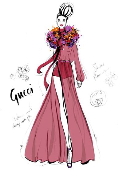 服装设计网 教程 时装画/手绘技巧      据知澳大利亚时装插画师megan