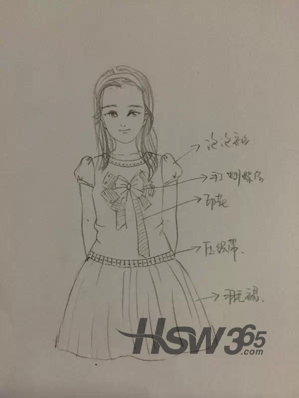 t100亲子童装2015春夏系列设计手稿