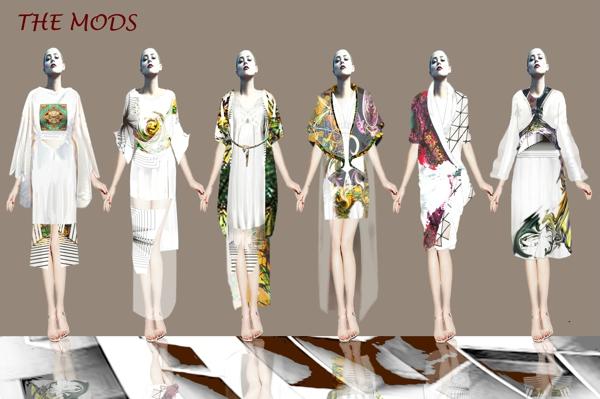 此系列服装灵感来源于中国的青花瓷纹理,在其中注入时尚和创新艺术