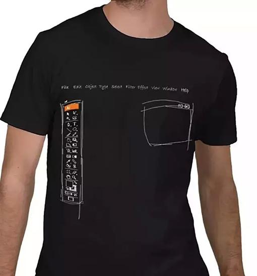 风格。    还记得小小最早的flash动画吗?   Flash T恤,展现了Flash 软件优秀的动画性能。   以前做动画很神秘,现在很多普通人都可以用Flash做小动画了。    Dreamweaver T恤,以Dreamweaver的logo标志为造型基础,做网页设计师的小伙伴要不要考虑一下啊。    Photoshop 油漆桶填充T恤,关于什么意思我就不解释了,明白的人自然明白。    MAYA T恤,用MAYA软件的人都认识到,MAYA这个3D软件的强大,   超人一样,无所不能,只有你有技术