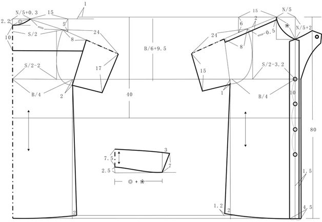 服装设计网 教程 裁剪放码              裁剪步骤:        ● 规格
