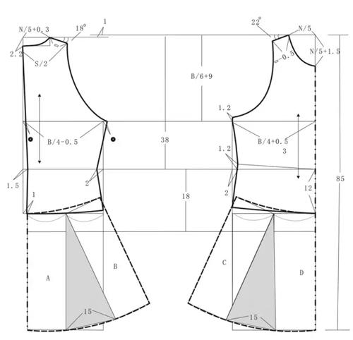 服装设计网 教程 裁剪放码            裁剪步骤:        ●规格