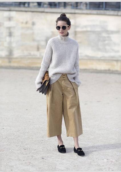阔腿裤,冬天这么穿更美-服装潮流搭配-服装设计网