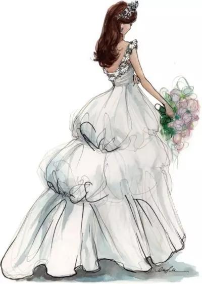 婚纱礼服效果图该怎么画