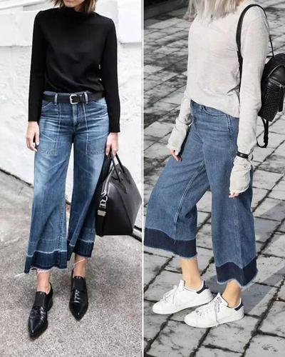 宽裤子如何搭配