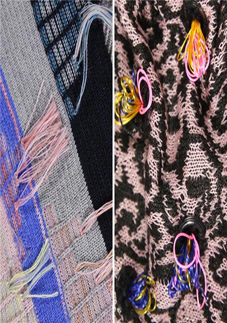 2018春夏女装面料流行预测,奇幻热带自然     针织采用简约设计,平面
