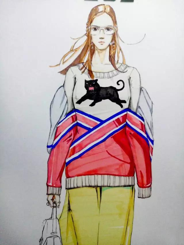 时装画手绘 | 服装效果图步骤图