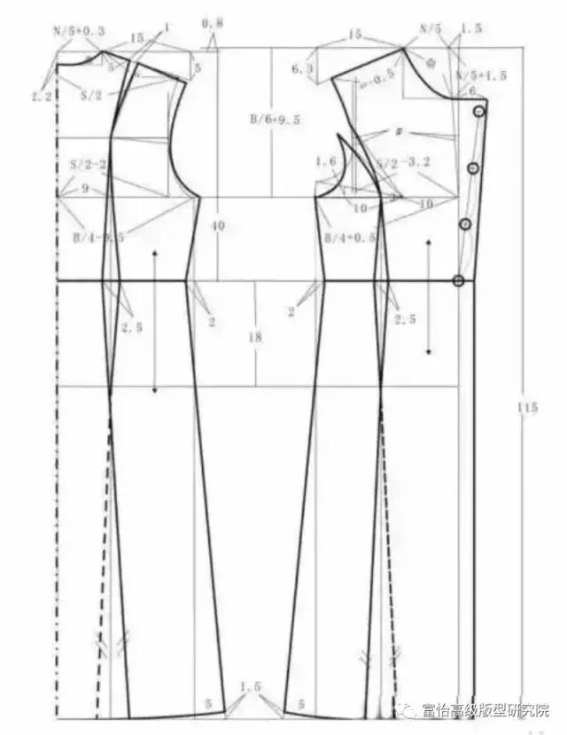 廓形大衣,格纹大衣裁剪图与工艺要求图片