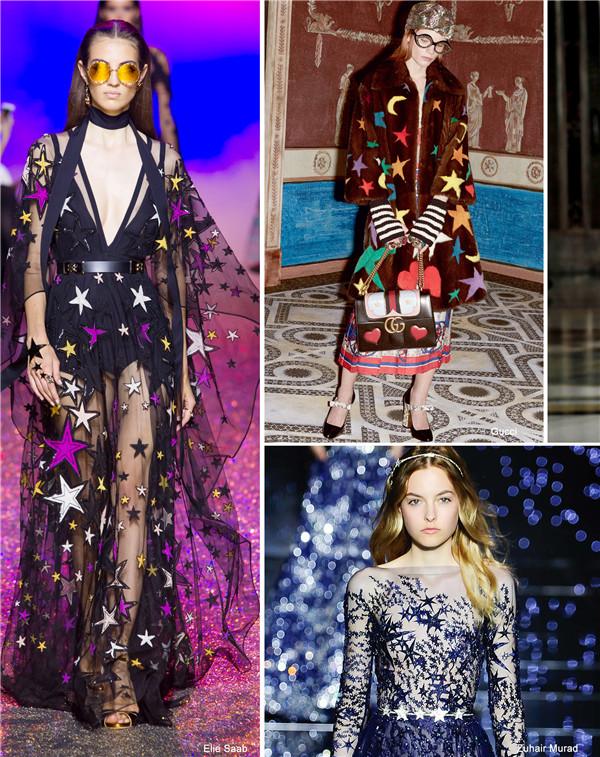 2018春夏女装图案/花型流行趋势 星空物语-服装趋势图片
