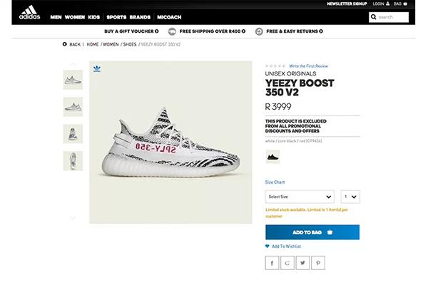 adidas Originals YEEZY BOOST 350 V2「Zebra」突击登陆非洲官网插图1