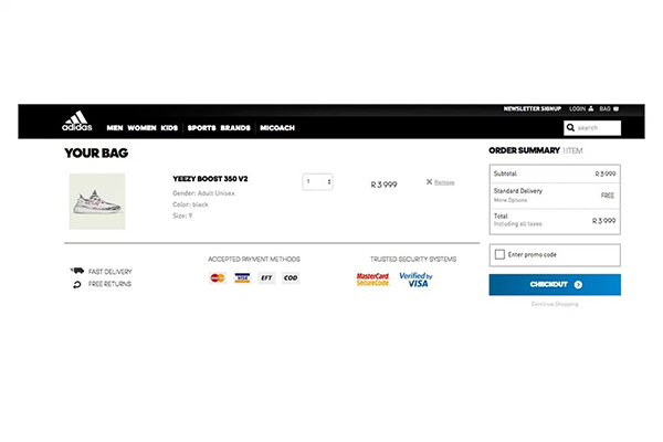 adidas Originals YEEZY BOOST 350 V2「Zebra」突击登陆非洲官网