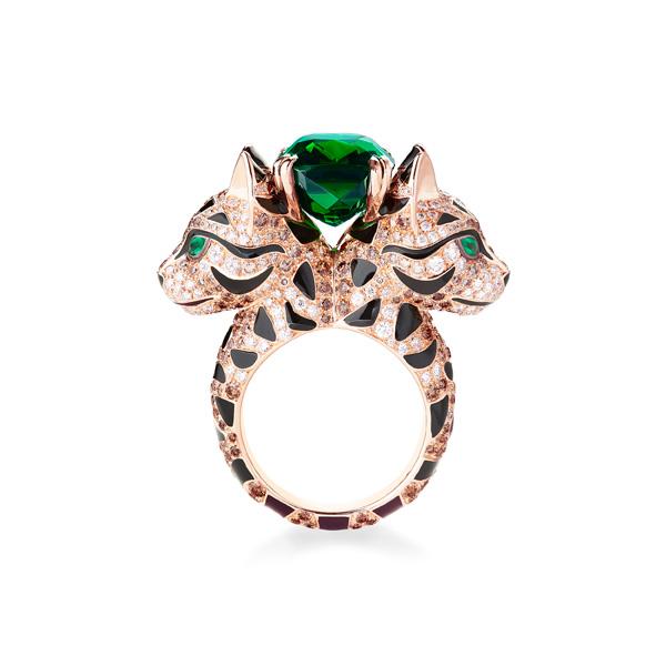 宝诗龙2017全新动物系列          nara母鹿玫瑰金戒指,镶有418枚香槟