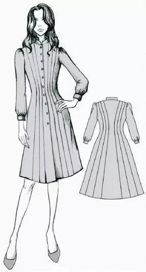 服装设计网 教程 服装设计          本款式为x廓形,前后片采用六条