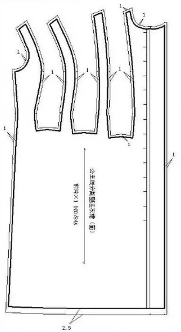 公主线分割式连衣裙结构设计