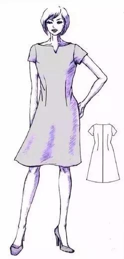连腰型连衣裙的结构设计-服装设计-服装设计教程-服装