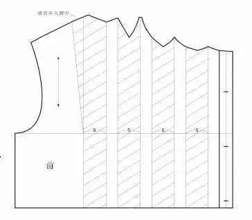 褶裥裙推档结构图制图