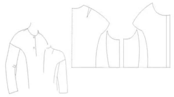 浅谈女装落肩袖造型与结构设计