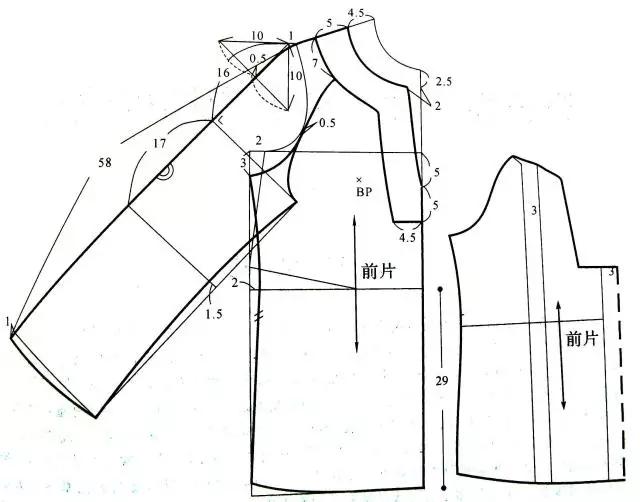 创意衬衣女手绘款式图