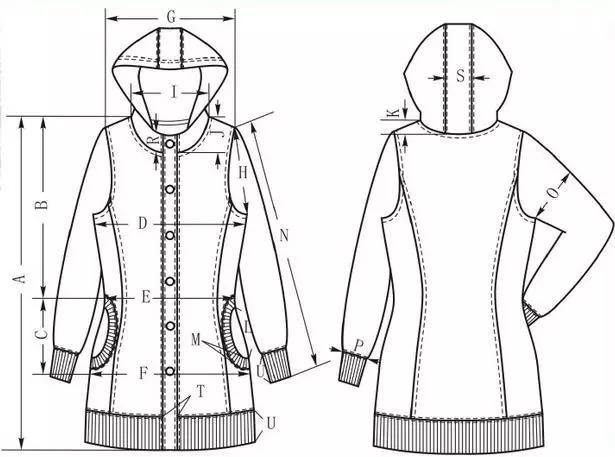 服装设计网 教程 制版技术     风帽 外套的样板设计与制作工艺