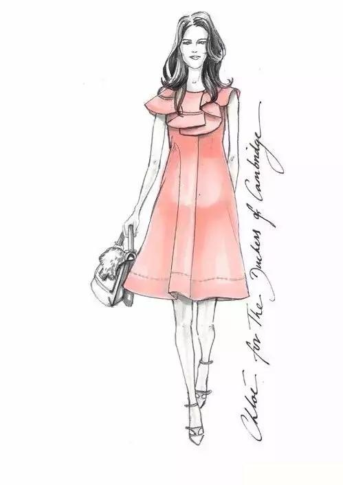 画一个模特衣服手稿