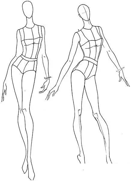服裝手繪完全人體動態-時裝畫/手繪技巧-服裝設計教程