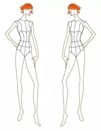 服装设计大赛 学习(时装画/手绘技巧)设计大赛  时装画模特类似初学