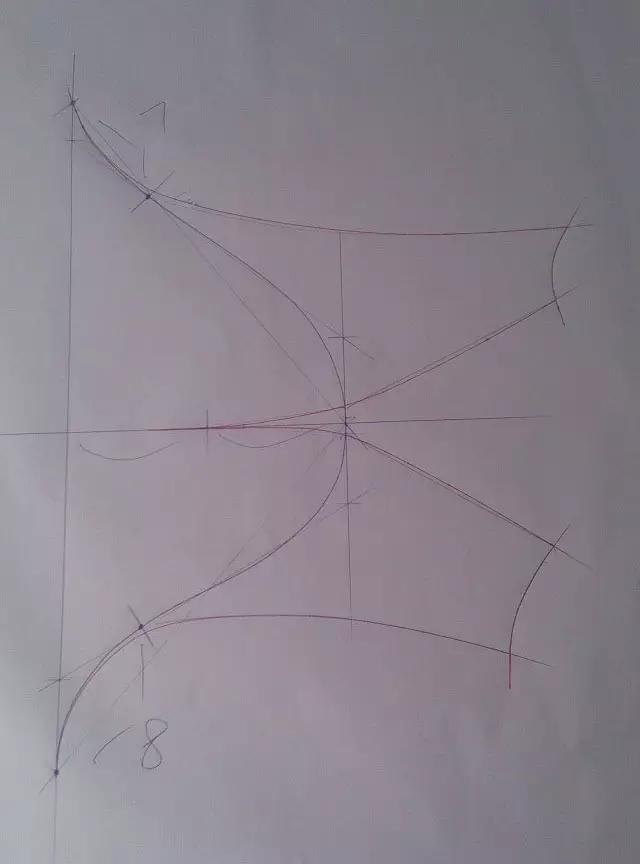 宽松落肩袖制版结构图