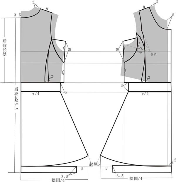 无袖连衣裙的结构设计与制作工艺