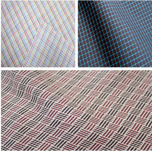 棉质衬衫衣料套格子花纹采用拼接 图案;科技贺天然纱线混纺或光泽涂层