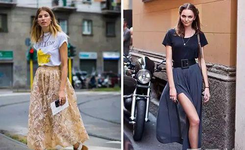 华南泉州服装设计培训班分享资讯:t恤半裙的搭配技巧!