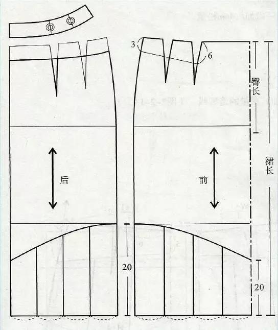 两款组合裙的结构设计与制图
