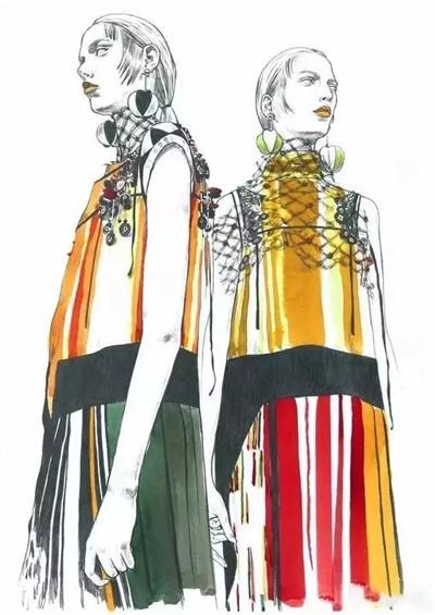 服装设计网 教程 时装画/手绘技巧      来源:左衽中国