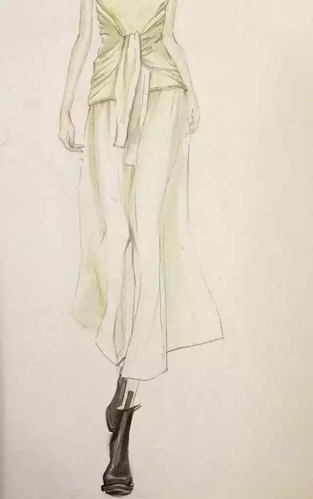 时装画技法 | 针织服装的上色教程