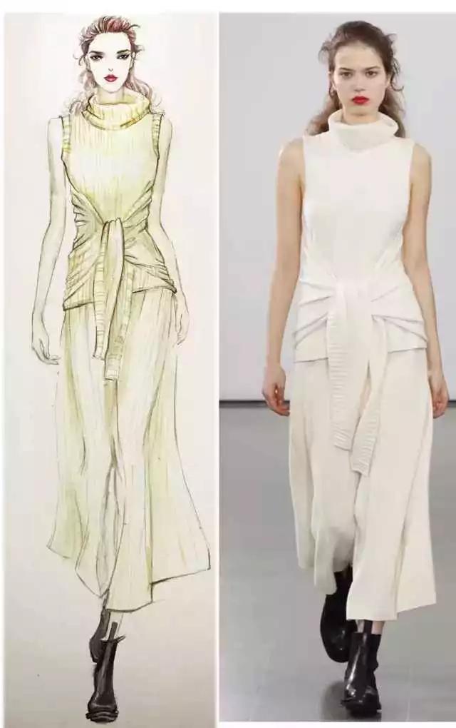 时装画技法 | 针织服装的上色教程-0学习(时装画/手绘