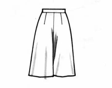 裙裤的结构设计与制图