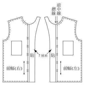 连体裤纸样结构图