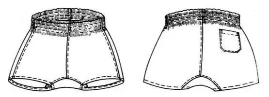 服装设计网 教程 裁剪放码                内包缝,明止口,脚口卷窄边