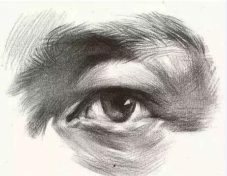 眼睛创意设计素描